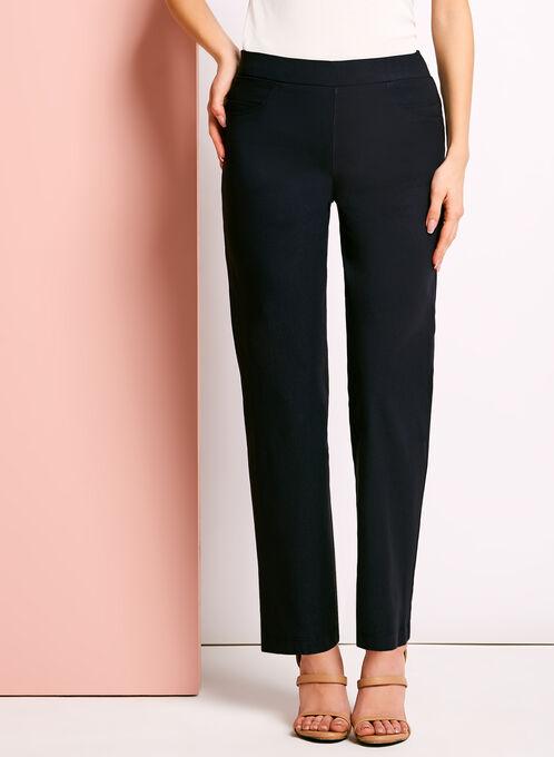 City Fit Pull-On Straight Leg Pants, Blue, hi-res