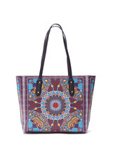 Geometric Print Tote Bag, , hi-res