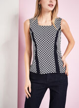 Sleeveless Chain Print Top, , hi-res