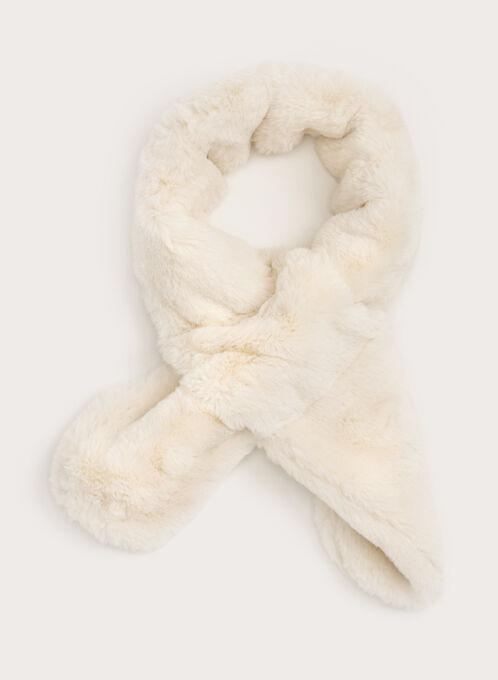 Faux Fur Neck Wrap, Off White, hi-res