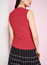 Sleeveless Jersey Tank Top, Red, hi-res