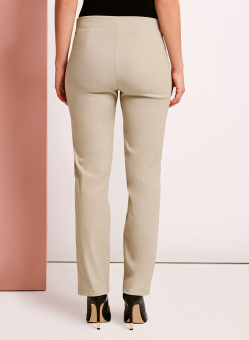 City Fit Pull-On Straight Leg Pants, Grey, hi-res