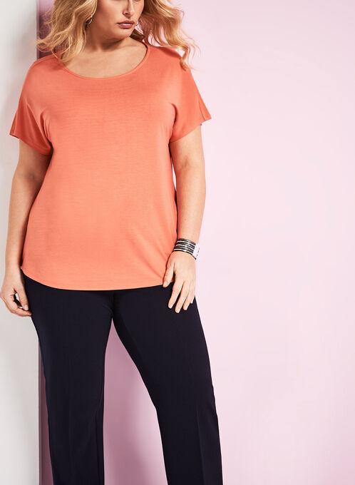 Boat Neck T-Shirt, Orange, hi-res