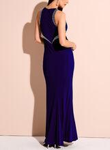 Crystal Embellished Jersey Gown, Blue, hi-res