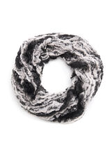 Faux Fur Loop Scarf, Black, hi-res