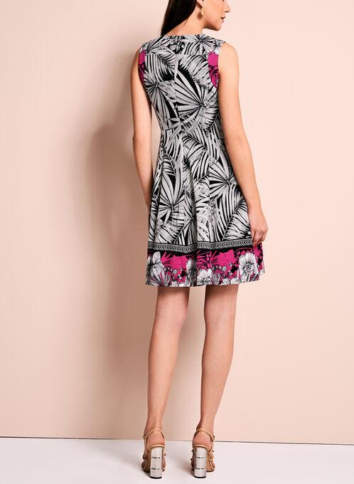 Maggy London Floral Fit & Flare Dress, Black, hi-res