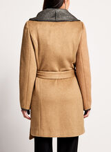 Double Face Wrap Coat, Brown, hi-res