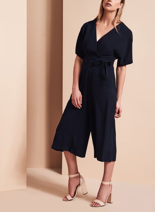 Wide Leg Jumpsuit, Blue, hi-res