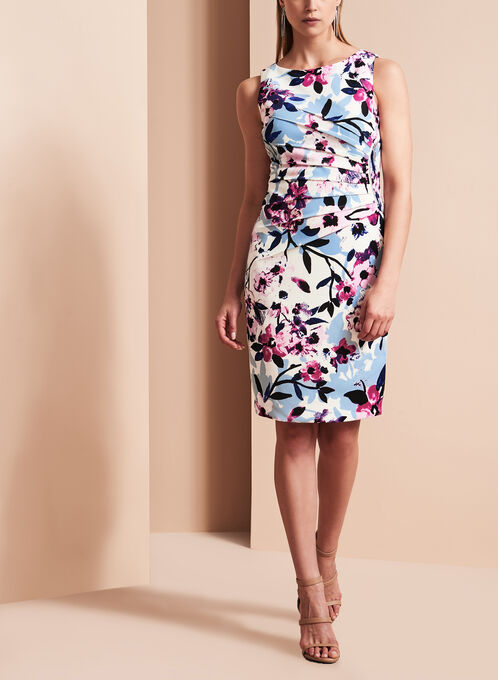 Ivanka Trump - Robe plissée à fleurs , Multi, hi-res