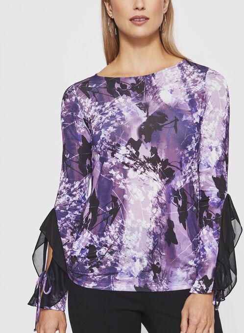 Long Sleeve top Cut & Sew, Purple, hi-res