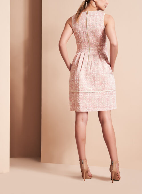 Vince Camuto Brocade Fit & Flare Dress, Pink, hi-res