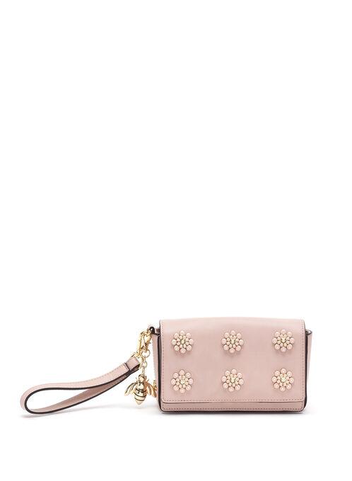 Christian Siriano Beaded Wristlet Clutch, Pink, hi-res