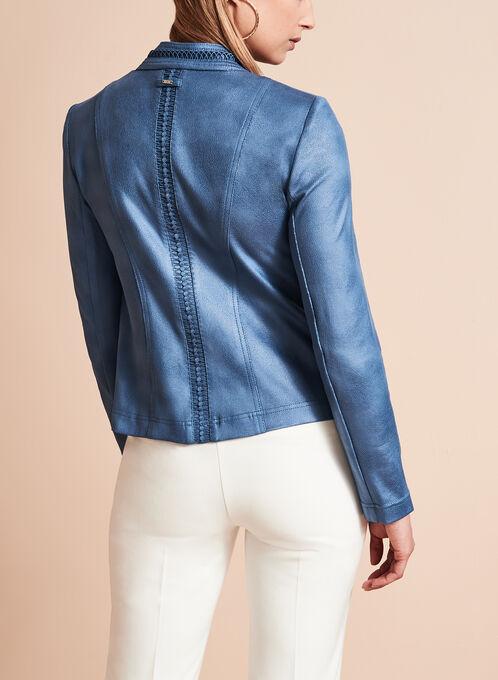 Vex Faux Suede Cascade Jacket, Blue, hi-res