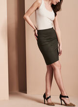Pull-On Panelled Skirt, Green, hi-res