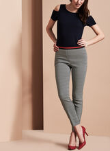 Slim Leg Jacquard Pants, , hi-res