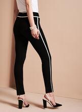 Slim Leg Piping Trim Pants, Black, hi-res