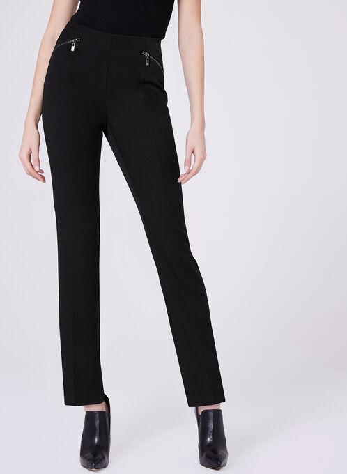 Bi-Stretch Slim Leg 7/8 Pants, Black, hi-res
