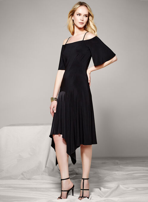 Off The Shoulder Dress, Black, hi-res