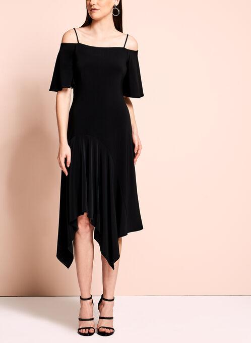 Off The Shoulder Dress, Black, hi-res