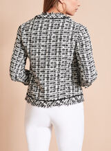 Contrast Tweed Boucle Jacket, Black, hi-res