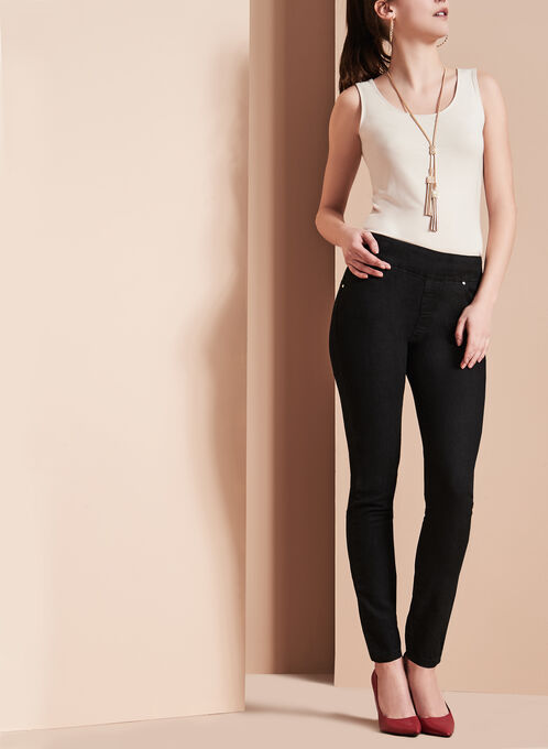 Simon Chang Slim Leg Jeans, Black, hi-res