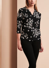 3/4 Sleeve Floral Print Top, , hi-res