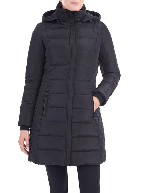 Manteau en duvet matelassé, Noir, hi-res