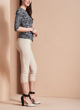 Pull-On Capri Pants, Grey, hi-res