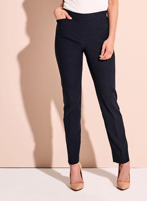 Pantalon 7/8 à effet ventre plat, Bleu, hi-res