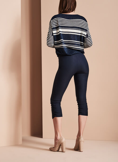 Pull-On Capri Pants, Blue, hi-res