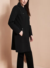 Nuage Single-Breasted Trench Coat, Black, hi-res
