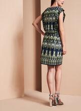 Maggy London Sleeveless Graphic Print Dress, Blue, hi-res
