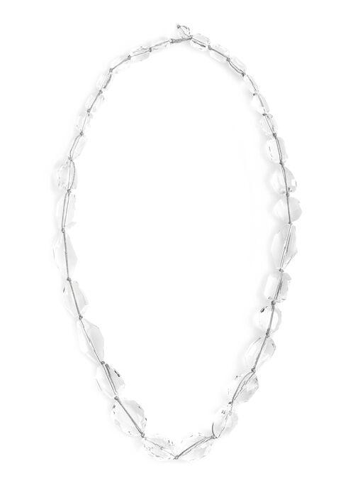 Transparent Bead Necklace, Multi, hi-res