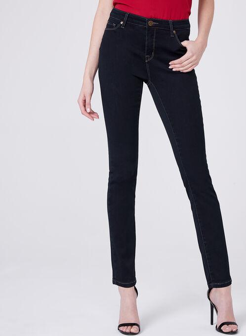 Jean 5 poches à jambes étroites, Bleu, hi-res