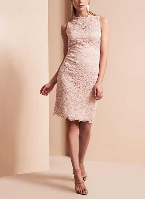 Vince Camuto Floral Lace Dress, Pink, hi-res