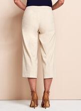 Stretch Linen Culotte Pants, Grey, hi-res