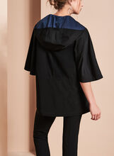 A-Line Poncho Coat , Black, hi-res