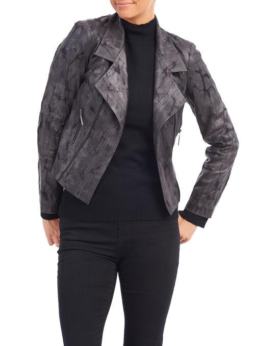 Vex Faux Leather Blazer, Grey, hi-res