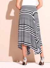 Stripe Print Handkerchief Skirt, Blue, hi-res