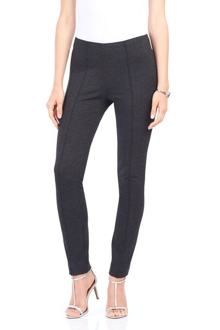 Side Zip Slim Leg Pants, Black, hi-res