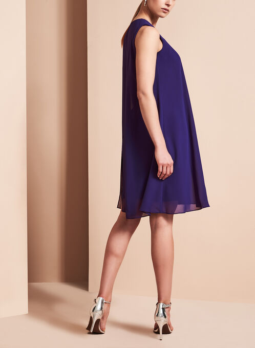 Vince Camuto Keyhole Detail Dress, Blue, hi-res