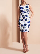 Ivanka Trump Floral Print Scuba Dress, Multi, hi-res