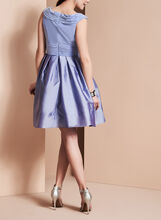 Adrianna Papell Taffeta Dress, Purple, hi-res