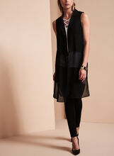 Patrizia Luca Elongated Sheer Vest, , hi-res