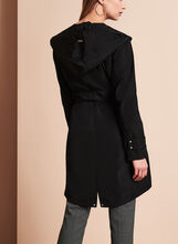 Novelti Belted Packable Trench Coat, Black, hi-res