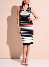 Maggy London Stripe Print Midi Dress, Multi, hi-res
