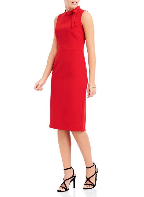 Maggy London Crêpe Bow Dress, Red, hi-res