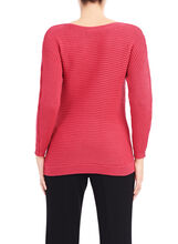 Boat Neck Ribbed Sweater, Pink, hi-res
