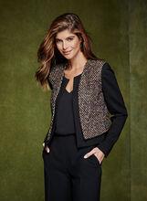 Cropped Tweed Blazer, , hi-res