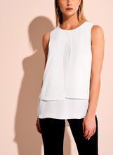Sleeveless Capelet Blouse, Off White, hi-res